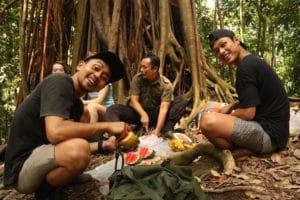 Break caminata Sumatra
