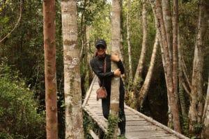 Camino a ver Orangutanes en Borneo