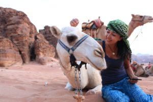 Camello en Wadi Rum